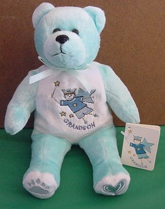 Beary Thoughtful Grandson Bear Beanie Stuffed Plush Tag