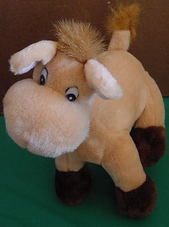 La Nina Light Tan Horse Cute Face Stuffed Plush 8""