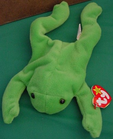 Ty Beanie Baby Legs the Green Frog Tag Stuffed Plush