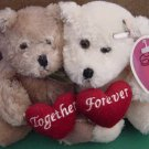 "Plushland MOD Together Forever Bears Beanie Plush 8"" March of Dimes"