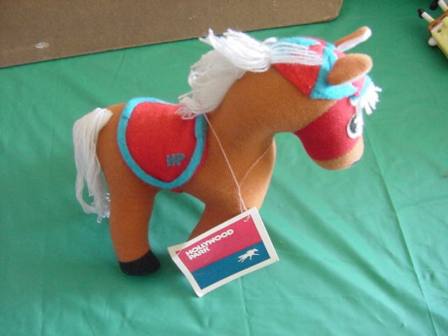"Hollywood Park Holly Race Horse 1977 Stuffed Plush 8"" Vintage"