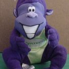 Zyrtec Drug Purple Gorilla Beanie Stuffed Plush 6""