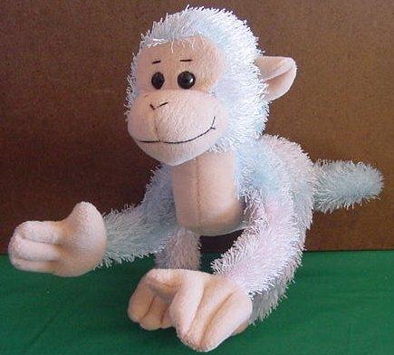 """Wishpets 2003 Harry Monkey Stuffed Plush 9"""" Wire Type"""