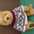 JC Penney Light Brown Bear in Sweater Stuffed Plush 9""