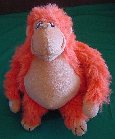 "Toy Works Velcro Hands Orange Gorilla Stuffed Plush 8"""