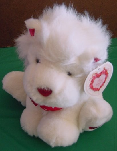 "Wal-mart Be My Valentine White Lion Stuffed Plush 8"" Tag"