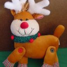 Giftco Reindeer Jointed Wreath Neck Stuffed Plush 8""