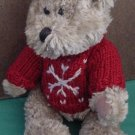 Hugfun Int Bear Red Snowflake Sweater Stuffed Plush 9""