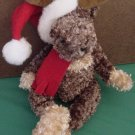 World Market Santa Reindeer Christmas Beanie Plush 6""