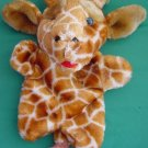 Soft Giraffe Blue Eyes Hand Puppet Stuffed Plush 9""