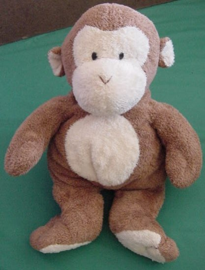 "Ty Brown Monkey Soft Floppy Squishy Stuffed Plush 10"""