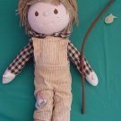 Applause Woodrow Fisherman Boy 1982 Stuffed Plush 13""