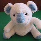 Bebisol Gingo Biloba France Soft White & Blue Bear Stuffed Plush 9""