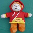 """DanDee Best Buddy Hoody Orange Monkey Stuffed Plush 9"""""""