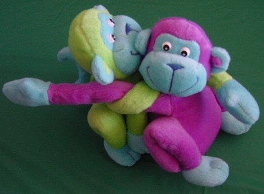 "GMA Best Friends Monkeys Tie Together Stuffed Plush 7"""