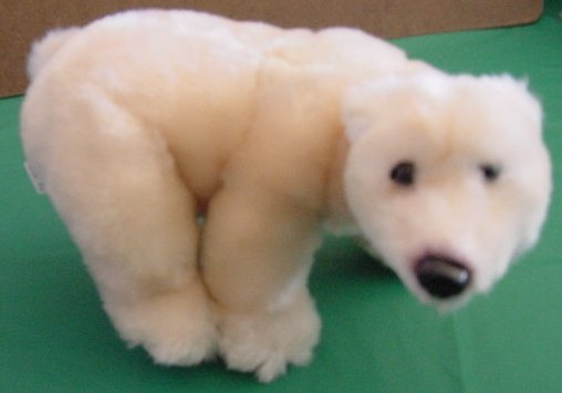 Sea World Soft Light Beige Polar Bear Stuffed Plush 10""