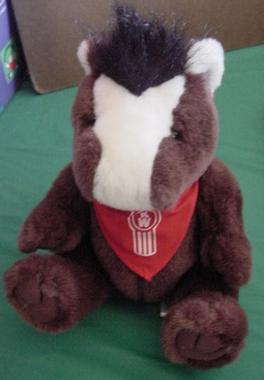 "Steven Smith Brown & White Horse Stuffed Plush 8"" Scarf"