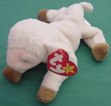 Ty Beanie Baby Ewey Lamb Sheep Ewe Tag Stuffed Plush