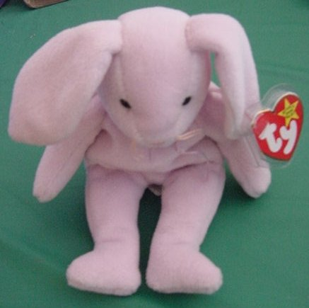 Ty Beanie Baby Floppity Rabbit Bunny Stuffed Plush 1996