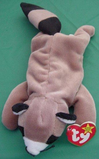 Ty Beanie Baby Ringo Raccoon Tag Stuffed Plush 1995