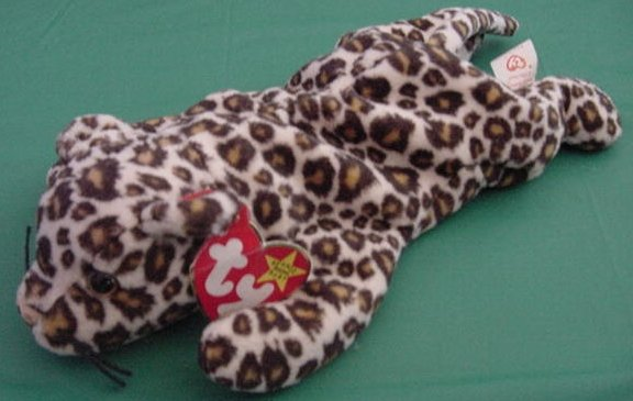 Ty Beanie Baby Freckles Leopard Cat Tag Stuffed Plush