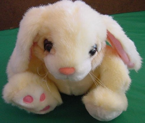 Fiesta Big Foot Bunny Rabbit Yellow Stuffed Plush 7.5""