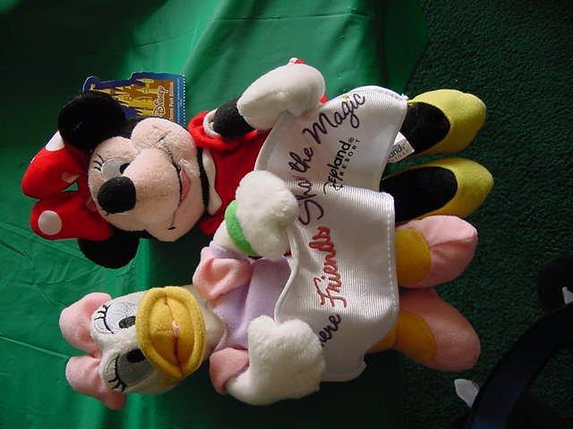 Disneyland Minnie & Daisy Share the Magic Beanie Plush