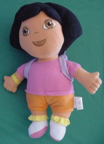 "Dora the Explorer 9"" Doll Backpack Stuffed Plush Nanco"