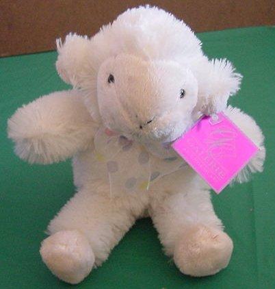 "Galerie Soft Off White Lamb Sheep Stuffed Plush 6"" Tag"