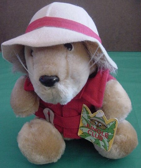 Dakin Jungle Club Safari Lion 1987 Stuffed Plush Tag