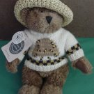 "Boyds Huney B Keeper Bear Stuffed Plush 9"" 1999 Hat Tag"