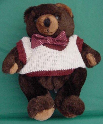 Douglas Little Cuddlers Chubby Bear Stuffed Plush 1987