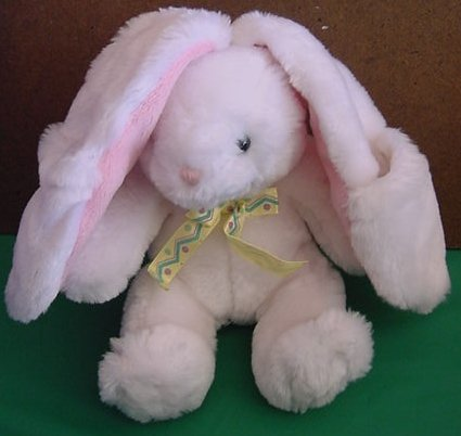 Hallmark All Ears Bunny Rabbit White Stuffed Plush