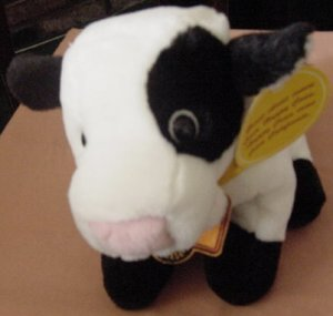 Happy Cow California Cheese Puppet Stuffed Plush Talks Janice