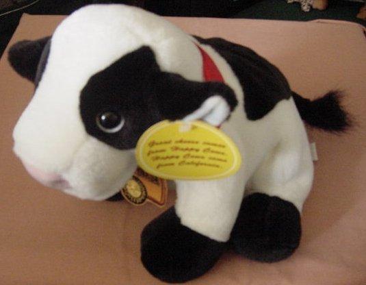 Happy Cow California Cheese Puppet Stuffed Plush Talks Diane