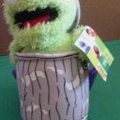 "Oscar the Grouch in Trash Can Nanco Stuffed Plush 9"""