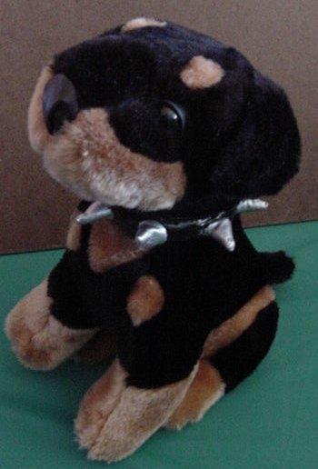 Toy Network Rottweiler Dog Spike Collar Stuffed Plush