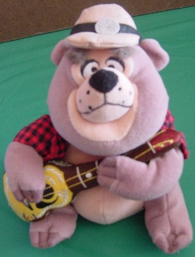 Disney Country Bear Big Al Guitar Beanie Plush 7""