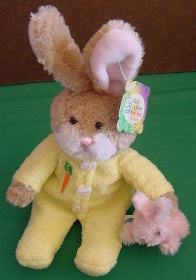 "Plushland Nibbles Bunny Pajamas Plush Beanie 8"" Tag"