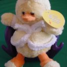 "Plushland Waddles Yellow Duck in Bathrobe Slippers Plush Beanie 8"" Tag"