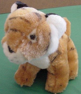 "Unichem Sitting Tiger Safari Animal Stuffed Plush 6.5"""
