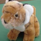Unichem Sitting Tiger Safari Animal Stuffed Plush 6.5""