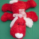 Wal-mart Red Floppy Dog White Ears Stuffed Plush 11""