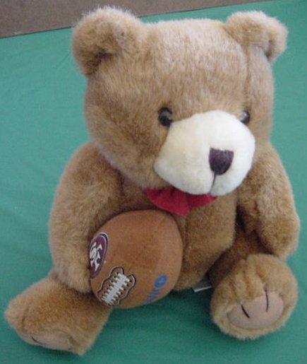 Citibank NFL San Francisco 49ers Bear Stuffed Plush 9""