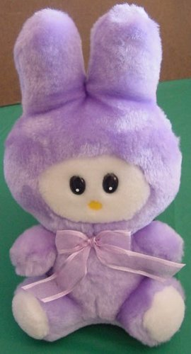 Calplush Funny Purple Bunny Rabbit Stuffed Plush 9 ""