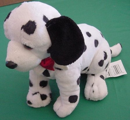 Wal-mart Dalmation Dog Spotted Sitting Stuffed Plush 7""