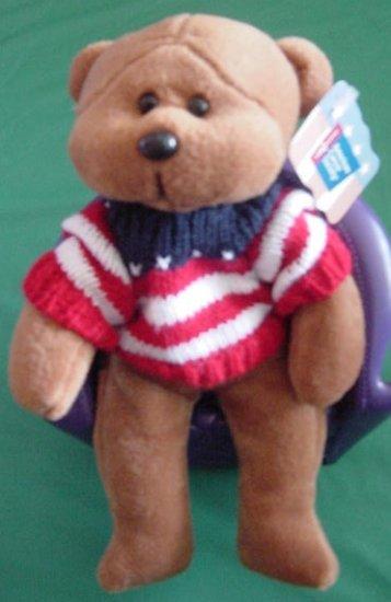 Plushland Justice Cancer Society Plush Beanie Bear Tag