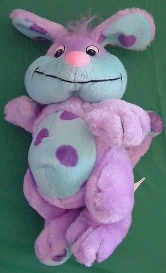 "Kuddle Me Toys Purple Funny Dog? Stuffed Plush 9"""