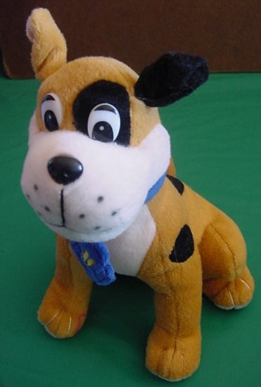 Circus Circus Sitting Spotted Dog Stuffed Plush 8""