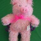 "Kuddle Me Toys Pink Pig Stringy Stuffed Plush 9"""